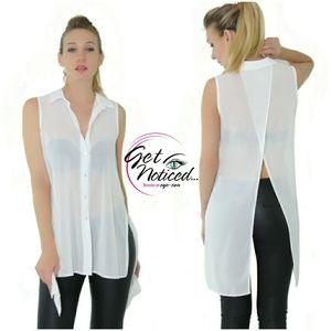 Flap Back Button up Shirt